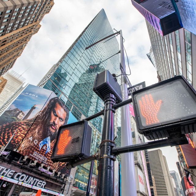 """""""NEW YORK CITY - DECEMBER 2018: TimesSquare street signs and advertisings"""" stock image"""