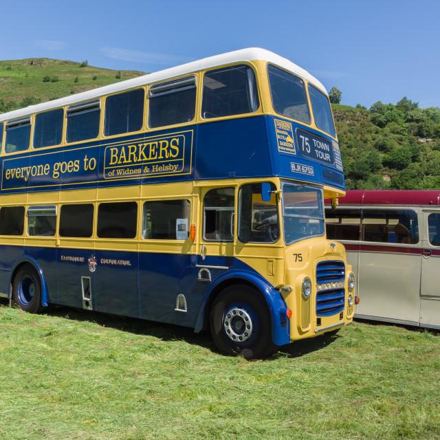 """Vintage Double Decker Bus"" stock image"
