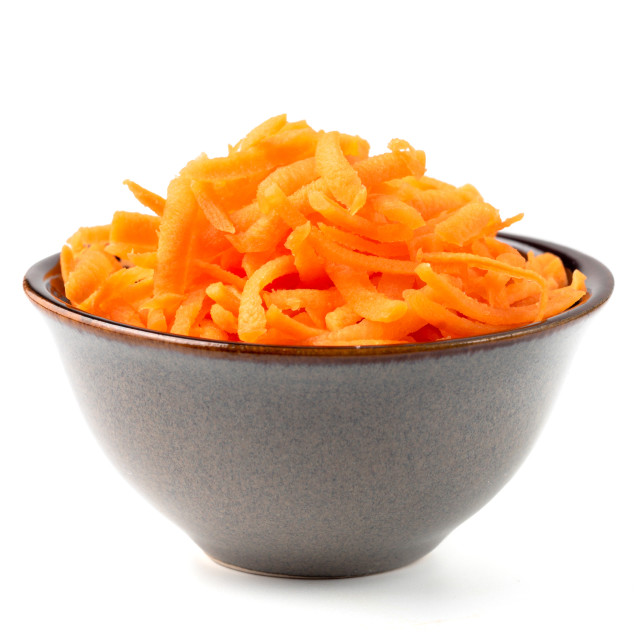 """""""Grated carrots isolated on white"""" stock image"""