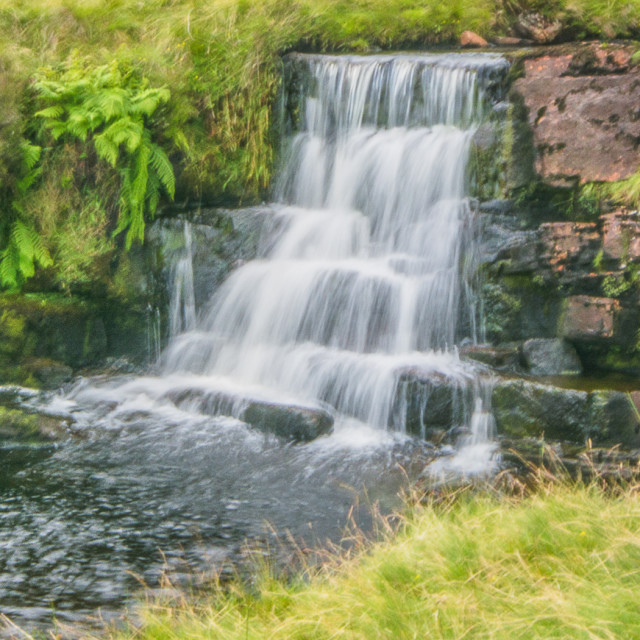 """""""a waterfall on the tawe"""" stock image"""