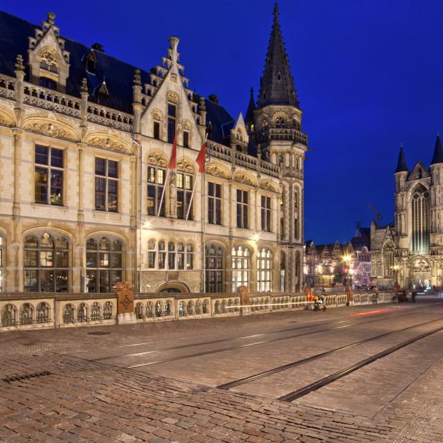 """""""Korenmarkt, Ghent, Belgium"""" stock image"""