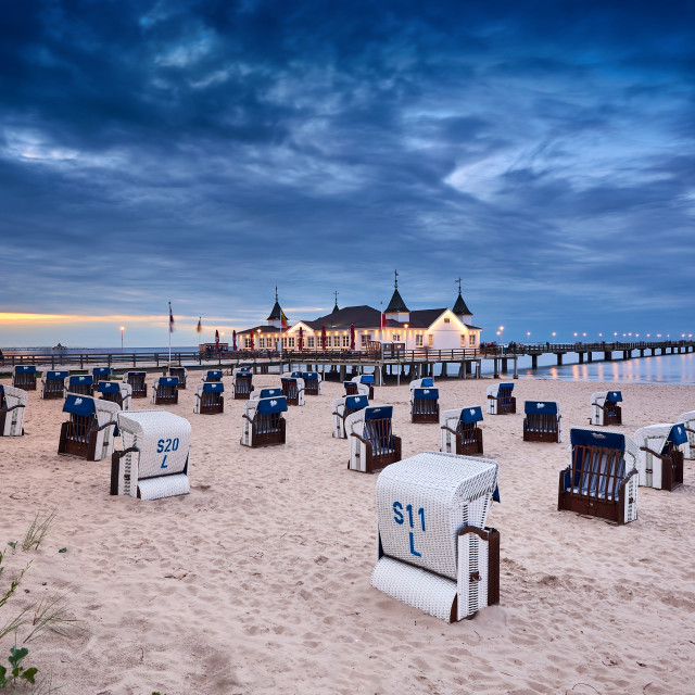 """pier Ahlbeck on island of Usedom in Baltic Sea"" stock image"