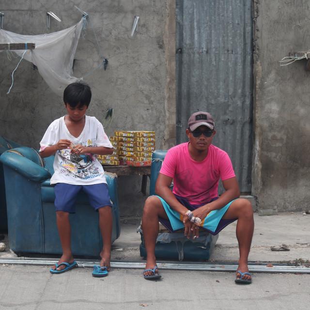 """""""Pie man of Cebu."""" stock image"""
