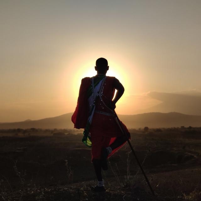 """Maasai warrior"" stock image"
