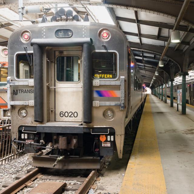 """""""New Jersey Transit Commuter Train"""" stock image"""