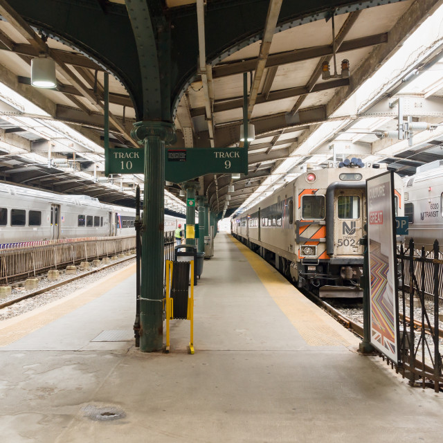 """New Jersey Transit Commuter Station"" stock image"