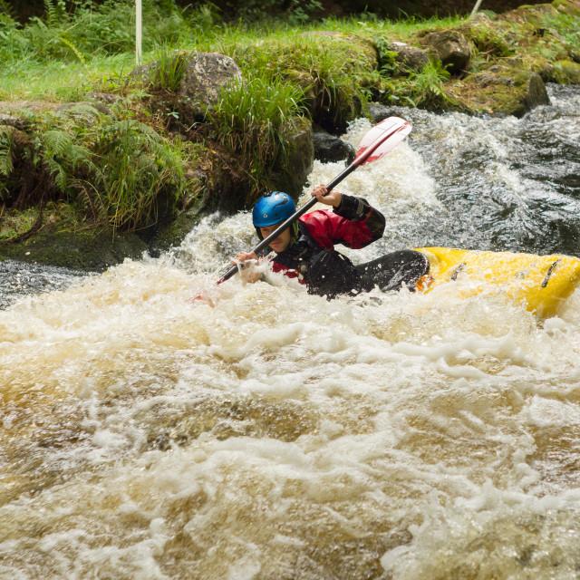 """""""White Water Kayaking"""" stock image"""