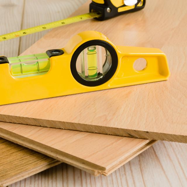 """Wood Laminate Flooring"" stock image"