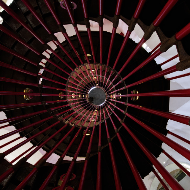 """""""Into the tower (spiral staircase)"""" stock image"""