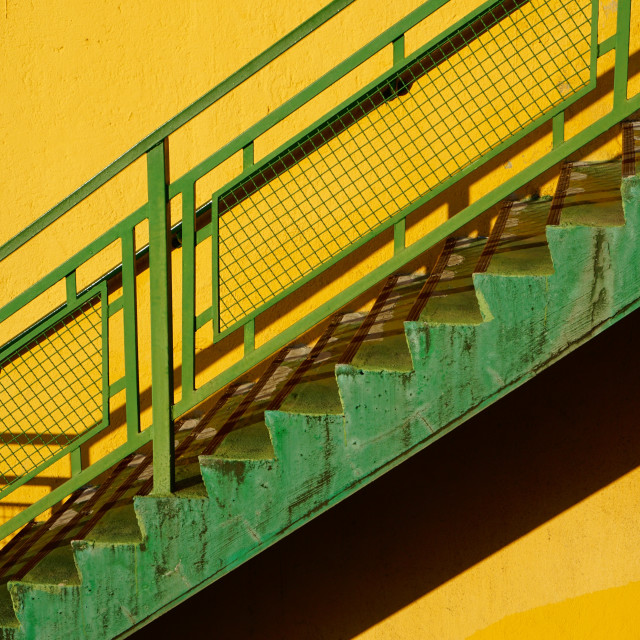 """""""stairs architecture in the street in Bilbao city Spain"""" stock image"""
