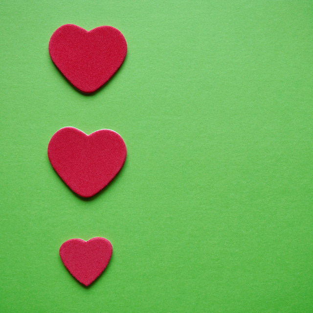 """""""colorful hearts decoration for valentine's day, multicolored background"""" stock image"""