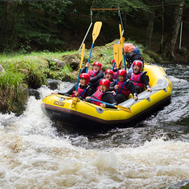"""White Water Rafting"" stock image"
