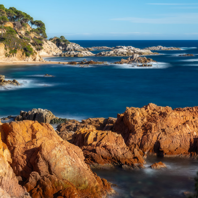 """""""Landscape picture from a Spanish Costa Brava in a sunny day, near the town Palamos"""" stock image"""