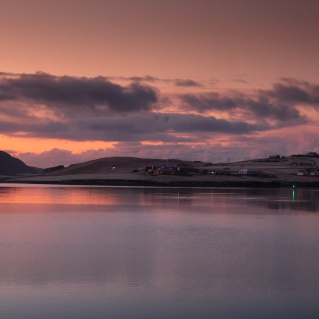 """""""Meadow Ayre from Scalloway, Shetland"""" stock image"""