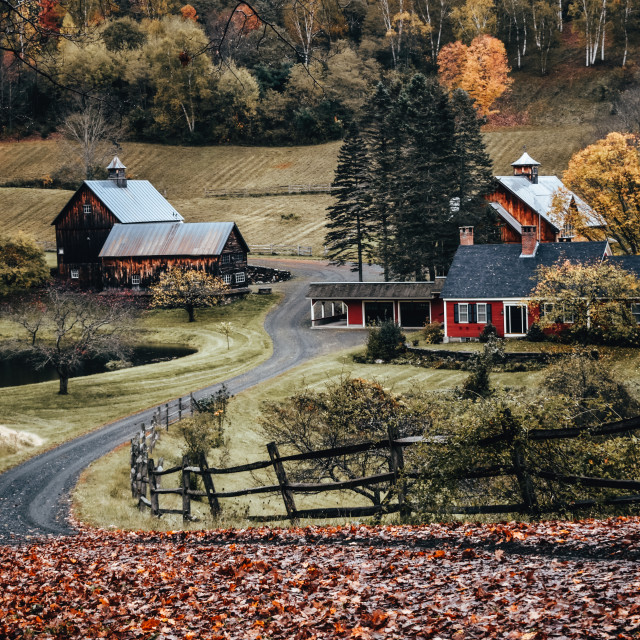 """""""Charming farm in Vermont"""" stock image"""