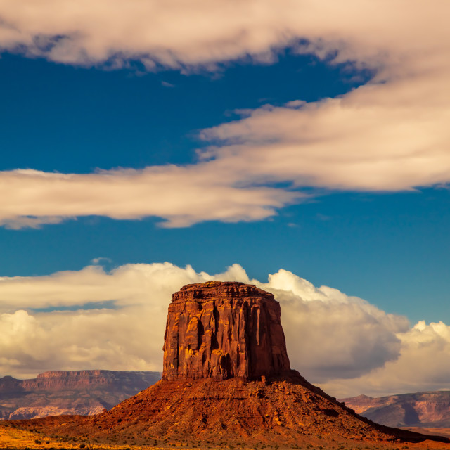 """""""Lonely Butte"""" stock image"""