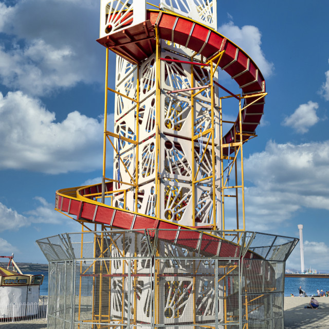 """""""Helter-Skelter on a beach"""" stock image"""