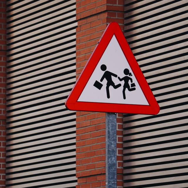 """""""pedestrian traffic signal on the street in Bilbao city Spain"""" stock image"""