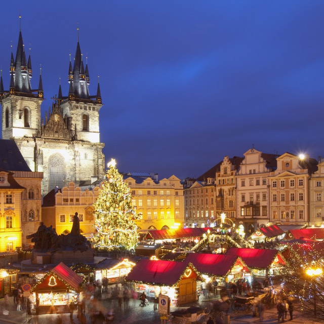 """Czech Republic, Prague - Christmas Market at the Old Town Square"" stock image"