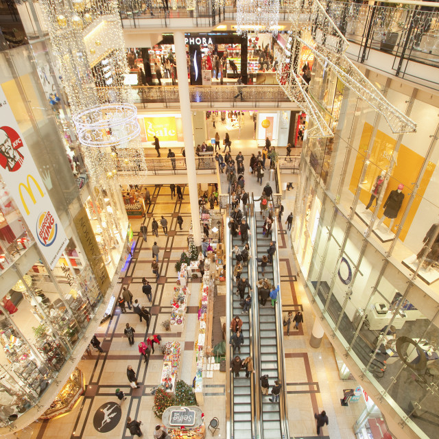 """Czech Republic, Prague . Palladium shopping mall"" stock image"