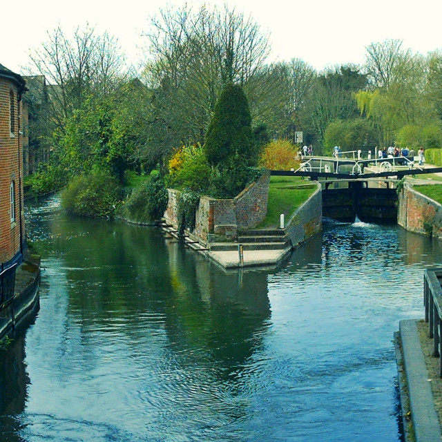 """River Kennet and Lock Newbury"" stock image"