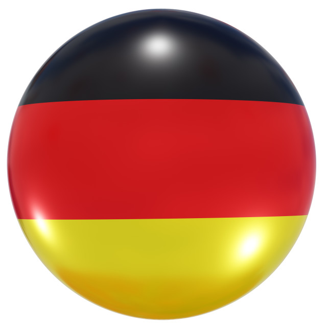 """""""Germany national flag button"""" stock image"""