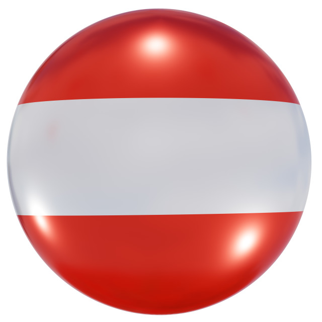 """Austria national flag button"" stock image"