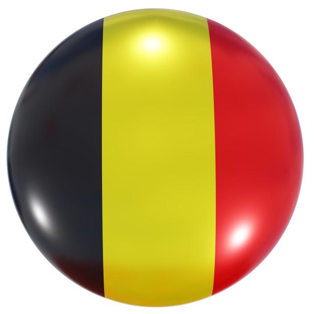 """Belgium national flag button"" stock image"