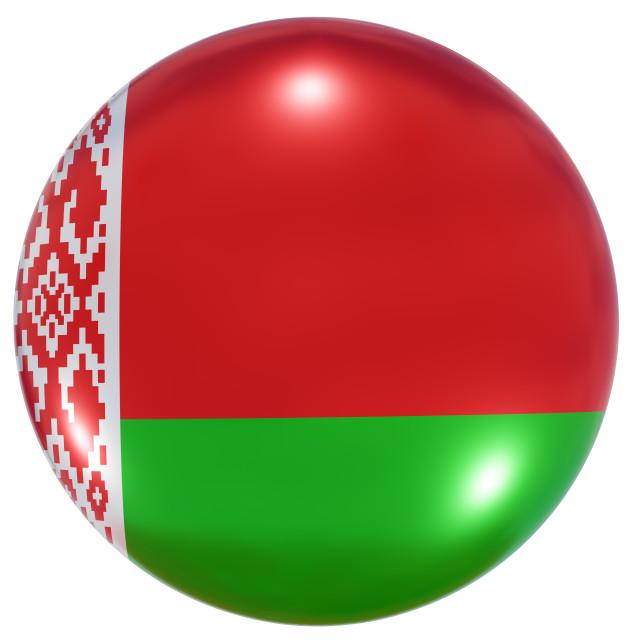 """Belarus national flag button"" stock image"
