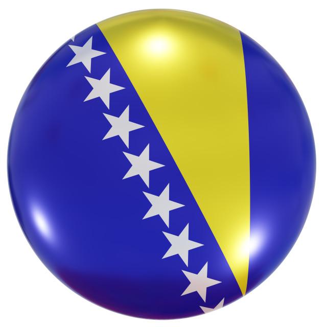 """Bosnia and Herzegovina national flag button"" stock image"