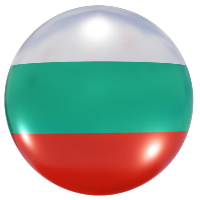 """Bulgaria national flag button"" stock image"