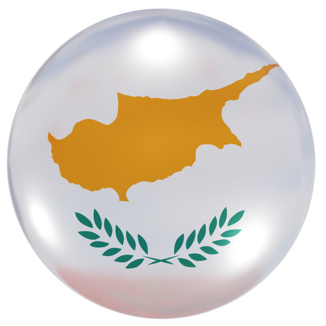 """Cyprus national flag button"" stock image"