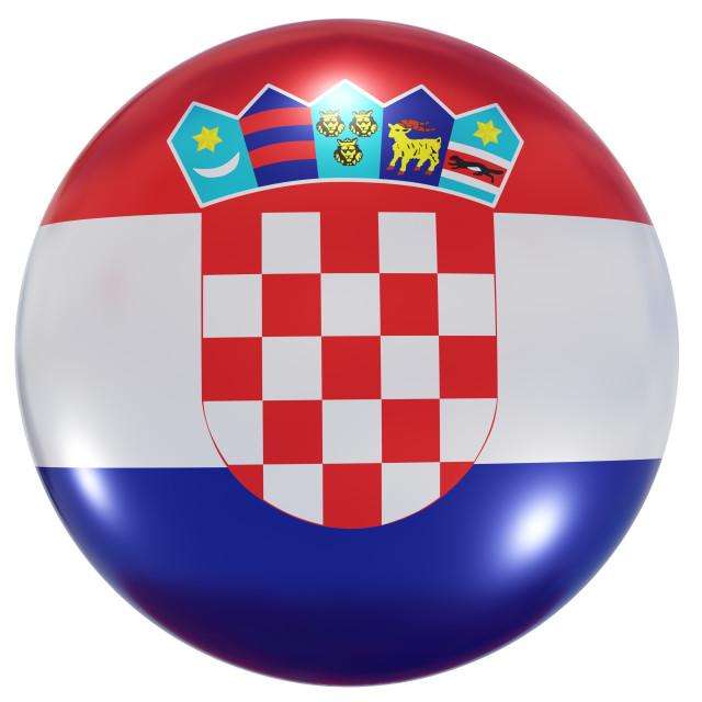 """Croatia national flag button"" stock image"