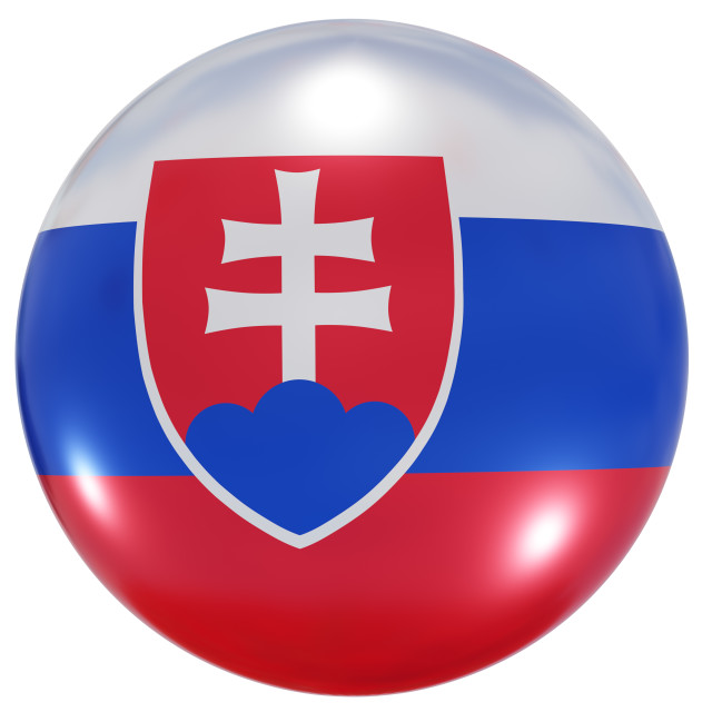 """""""Slovakia national flag button"""" stock image"""