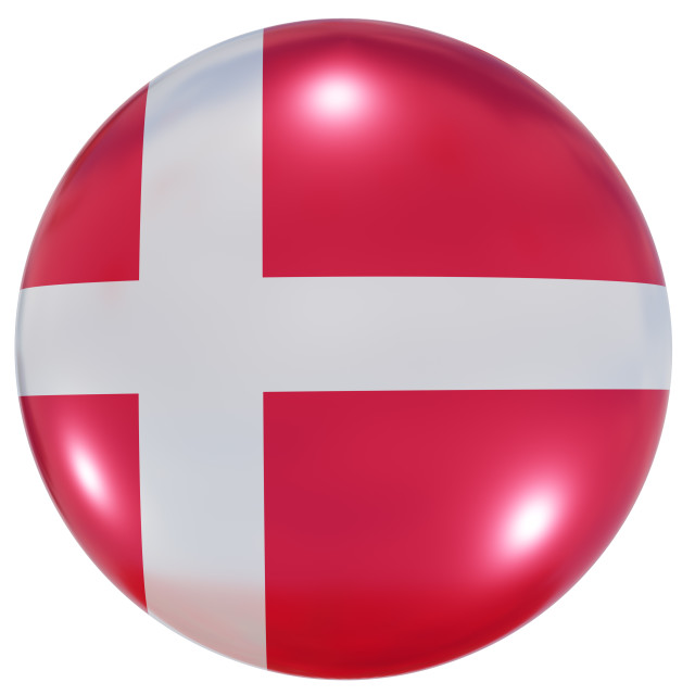 """Denmark national flag button"" stock image"