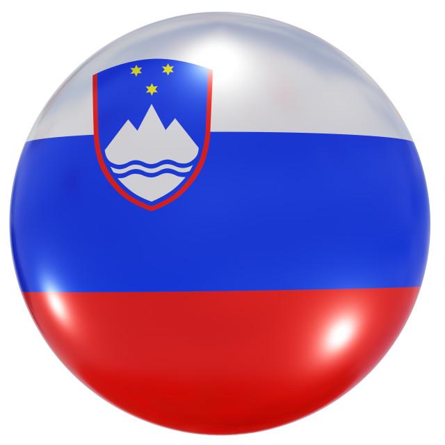 """Slovenia national flag button"" stock image"