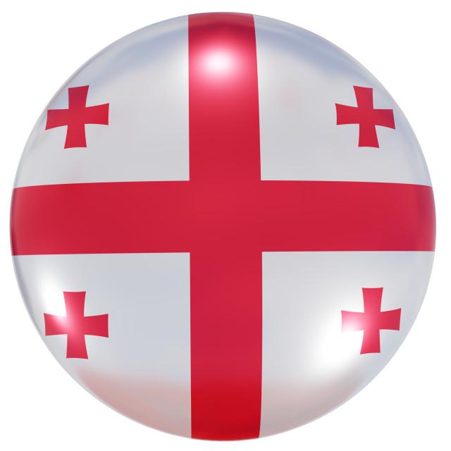 """""""Georgia national flag button"""" stock image"""