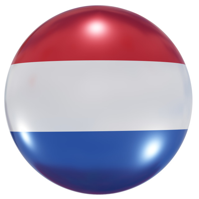 """""""Holland national flag button"""" stock image"""