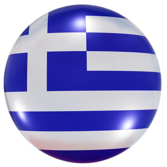 """Greece national flag button"" stock image"