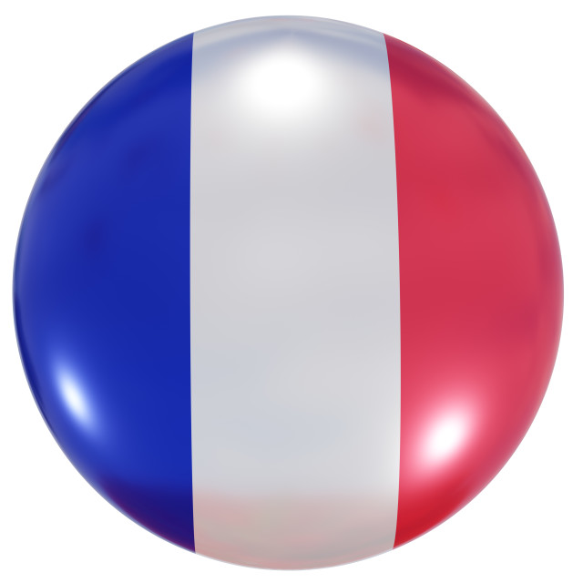 """""""France national flag button"""" stock image"""