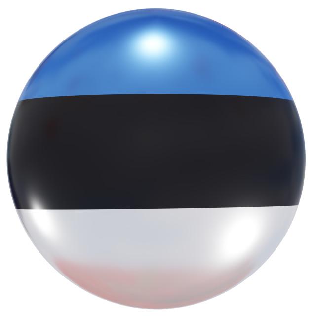 """""""Estonia national flag button"""" stock image"""