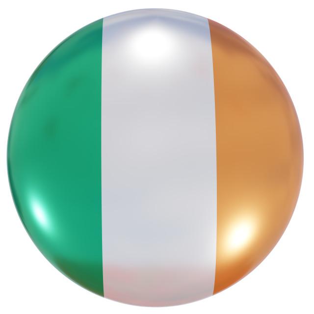 """Ireland national flag button"" stock image"