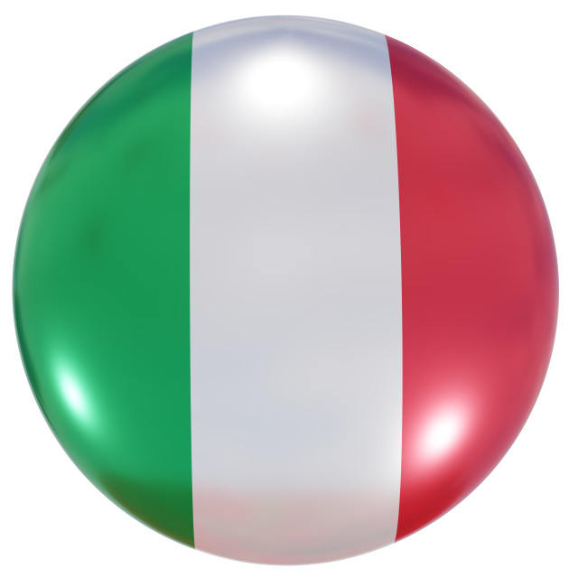 """""""Italy national flag button"""" stock image"""