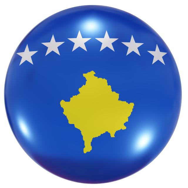 """""""Kosovo national flag button"""" stock image"""