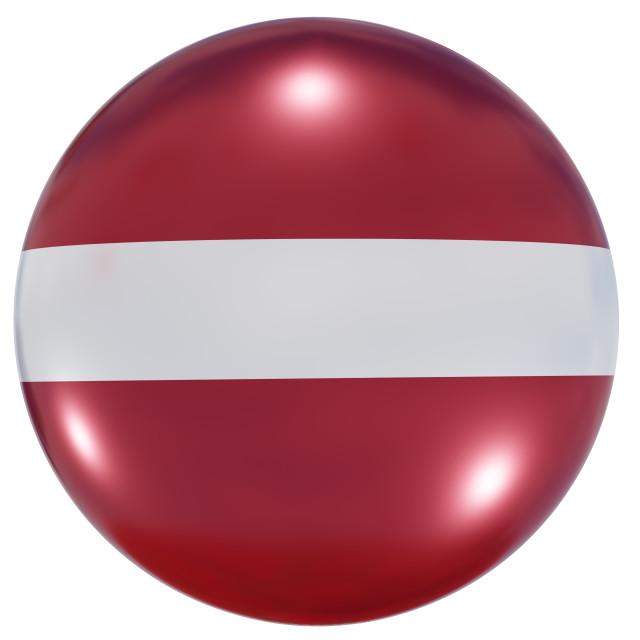 """Latvia national flag button"" stock image"