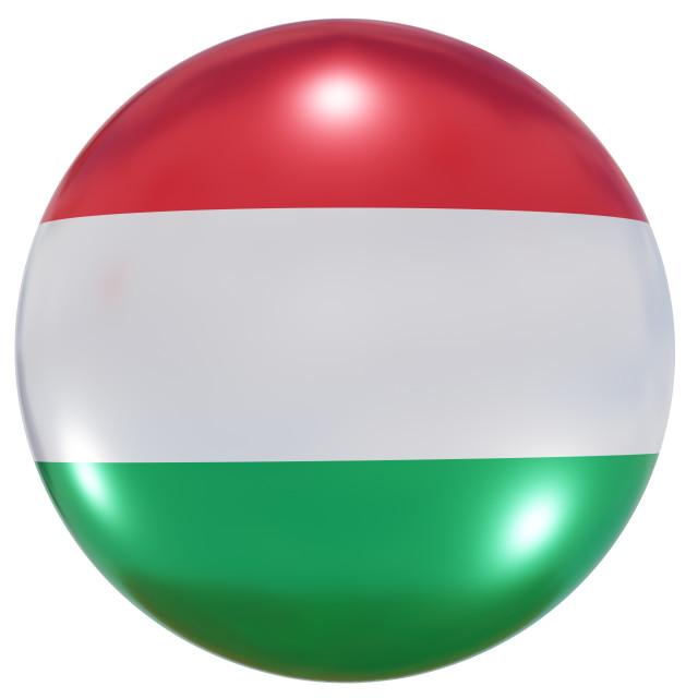 """Hungary national flag button"" stock image"
