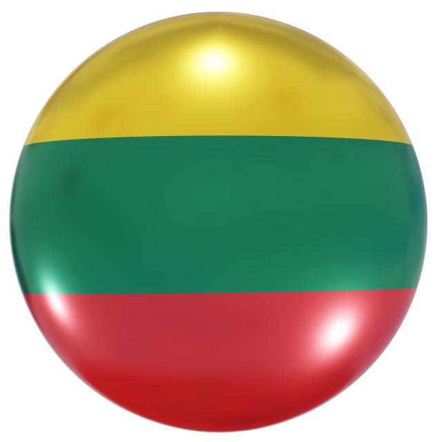 """Lithuania national flag button"" stock image"