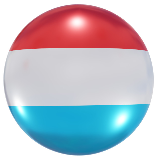 """""""Luxembourg national flag button"""" stock image"""