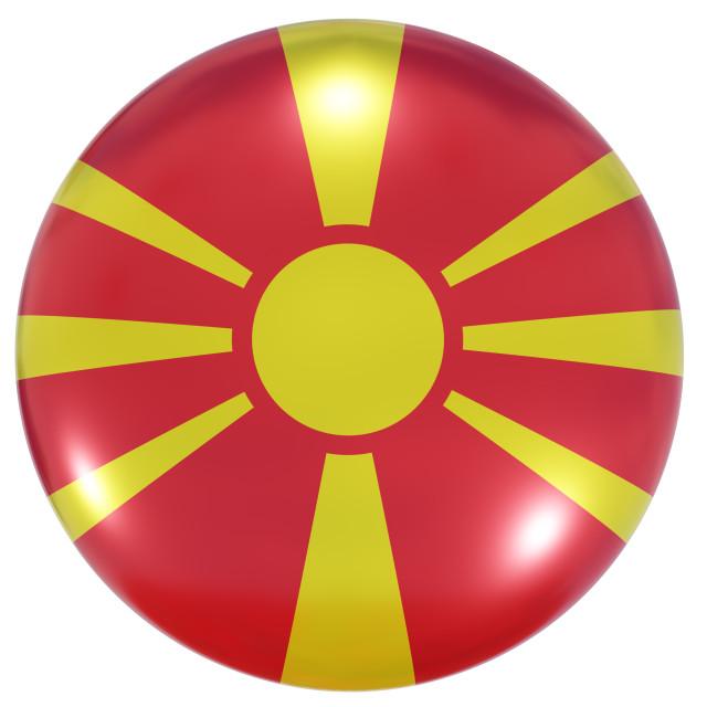 """Macedonia national flag button"" stock image"