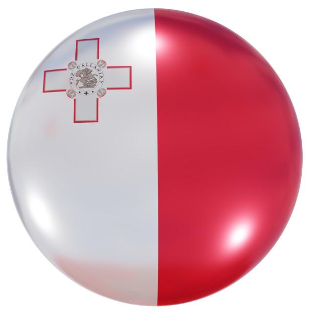 """Malta national flag button"" stock image"